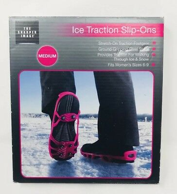 The Sharper Image Ice Traction Slip-Ons Women's Shoe Sizes 6-9 NEW IN BOX