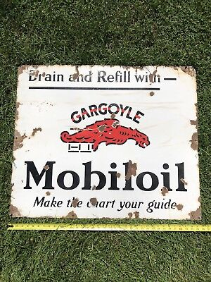 Mobile Oil Gargoyle Porcelain Sign