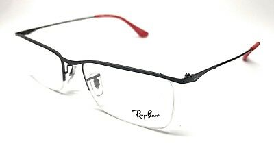 3e0095d35a NEW RAY BAN Rb 6370 2503 Black Red Frame Authentic Eyeglasses 55-18 .