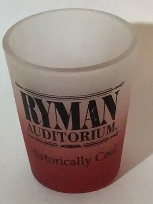 Ryman Auditorium Shot Glass Nashville Tennessee Historically Cool FROSTED RARE