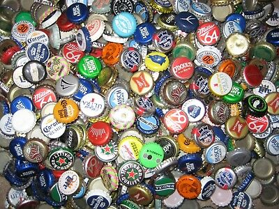 1000+ ASSORTED BEER BOTTLE CAPS (50+ Different) Many Colors!!! A