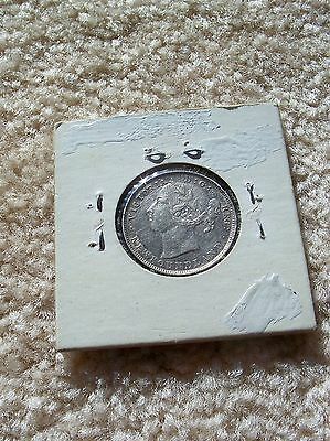 1890 Newfoundland Canada Canadian 20 Cent 20c Silver Coin-Some Mint Luster
