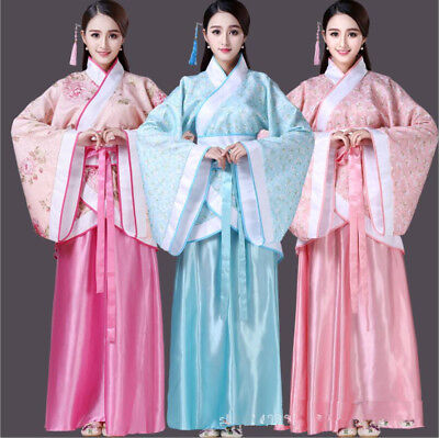 Ancient Fairy Costume Chinese Women Han Tang Dynasty Dancing Silk Dress Cosplay