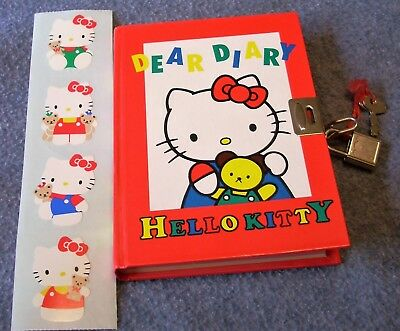 Hello Kitty Notebook with Lock