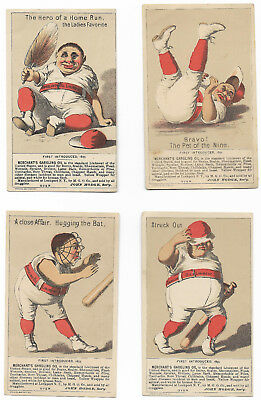 Victorian Trade 1880s MERCHANT's GARGLING OIL BASEBALL H804 Pick from 5 Cards