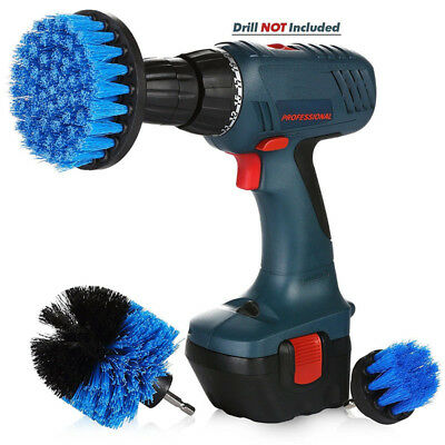 3PCS drill brush for Car Carpet wall and Tile cleaning MEDIUM DUTY(BLUE)
