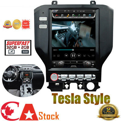 10.4 Ford Mustang Tesla Style Android 6.0 Car Navigation Stereo HD GPS 2015-18