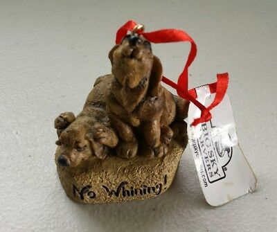 Big Sky Carvers Stonecast Dogs No Whining new with tag Ornament