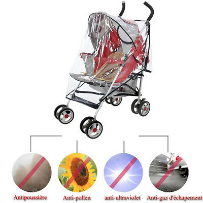 Quality Universal Buggy Pushchair Stroller Pram Transparent Rain Cover Baby D0D