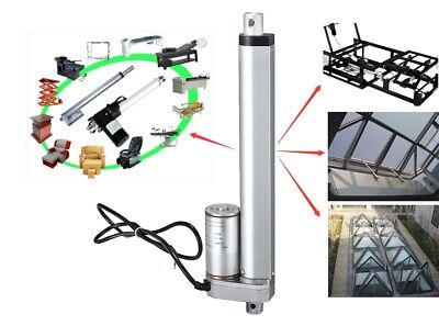 12V 750N 100mm Linear Actuator Motor Electric Door Opener With Mounting Brackets