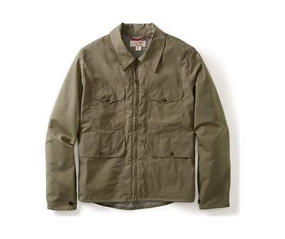 NWT FILSON 10450 Cover Cloth Bell Bomber Jacket Tan Medium M Made in USA Waxed