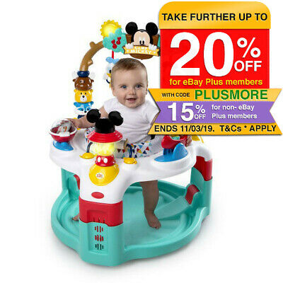 Bright Stars Mickey Mouse Friends Baby/Kids Chair Seat Activity Saucer/Toys 6m+