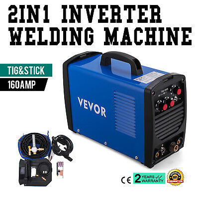 160 Amp TIG Torch Stick ARC DC Welder 110/230V Stainless Steel Inverter Stable