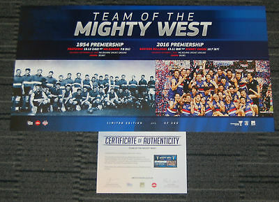 Western Bulldogs 2016 Afl Premiers Team Of The Mighty West Official Afl Print