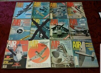 AIR CLASSICS magazine 1977 Vol 13, No 1 to 12 Full Yr Available Price per issue!