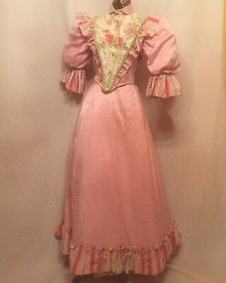 Ladies Edwardian/Victorian Pink Theatrical Costume/Dress With Great Detail
