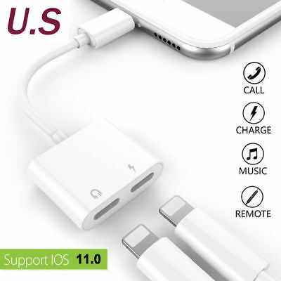 Genuine 4in1 Lightning Adapter Cable Audio Splitter Charge iPhone 7/8 XR Xs Max