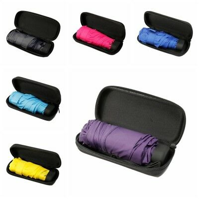 Folding Mini Pocket Umbrella Compact Travel Parasol Light Portable Case US HOT