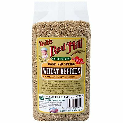 Bob's Red Mill Organic Hard Red Spring Wheat Berries 793g
