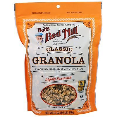 Bob's Red Mill Classic Granola Lightly Sweetened 340g