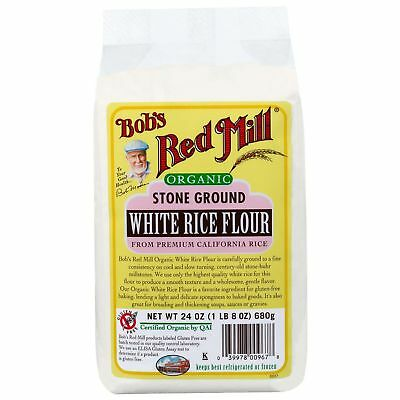 Bob's Red Mill Organic Stone Ground White Rice Flour 680g