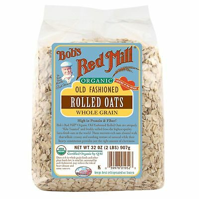 Bob's Red Mill Organic Old Fashioned Rolled Oats Whole Grain 907g
