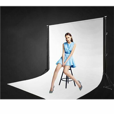 Photography Studio Background Support Stand Crossbar & White Fabric Backdrop Kit