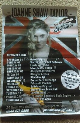 Joanne Shaw Taylor  Dirty Truth Tour Poster A3