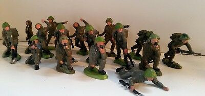 Lot of 1/35 Britain's Herald Khaki Infantry figures