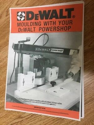 DEWALT RADIAL ARM SAW MOULDING HEAD Manual/Booklet For 250mm Radial Arm Molding