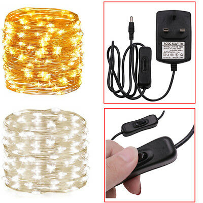 10/20/30M Fairy Lights Plug-in LED String Wedding Party Garden Christmas Decor