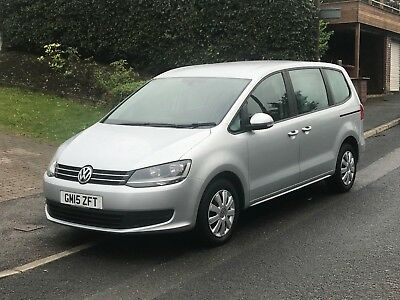 2015 Volkswagen Sharan S DSG Bluemotion 7 Seater Silver - Low Mileage  May P/X