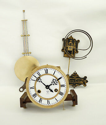 GUSTAV BECKER Complete Wall Clock Movement Cathedral Gong Germany at 1915