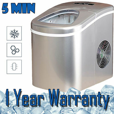 Ice Maker Water Dispenser Cube Machine Portable Commercial Home Auto