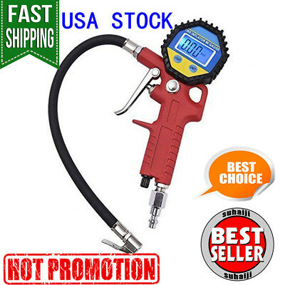 MICTUNING Portable Tire Inflator Digital Tire Pressure Gauge with Lock-On Air