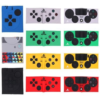 Nintendo Game Play Station Pattern PU Leather Bifold Wallet Card Photo Holder