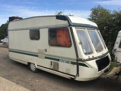 4 berth caravan fixed bed