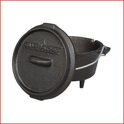 Dutch Oven 5 in. Cook Ware Classic Preseasoned Cast Iron Durable Hanging Strap
