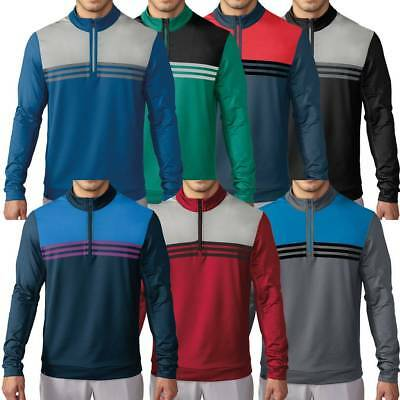 Sale!!! Adidas Golf Climacool Colourblock 1/4Zip Layering Mens Sweater Cover-Up