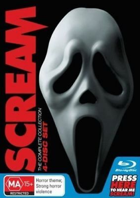 Scream - The Complete Collection Box Set [New & Sealed] 4 Disc Blu-Ray Set