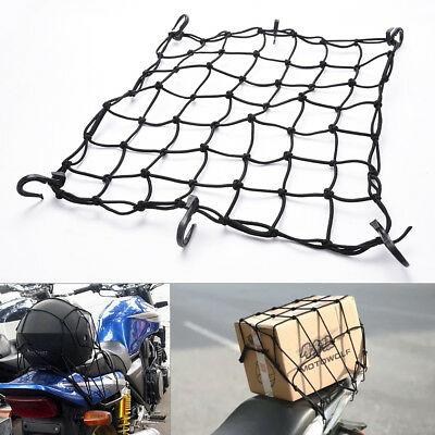 """15""""x15"""" Bungee Cargo Net 6 Adjustable Hooks & Tight 2""""x2"""" Mesh for Tighter Load"""