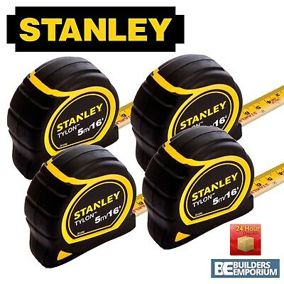 Stanley Tylon 5m / 16ft Pocket Tape Measure with 30-696 x4