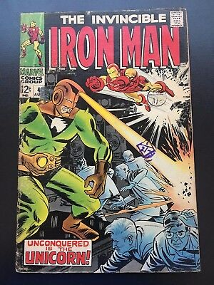 The Invincible Iron Man #4 Vol 1  Marvel Comics Unconquered is the Unicorn