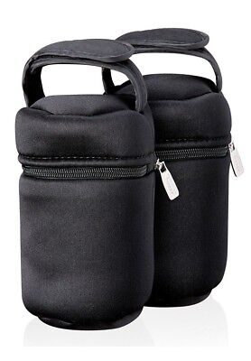 Baby Bottle Carriers Warmer Bags Tommee Tippee Closer to Nature Insulated 2Pack
