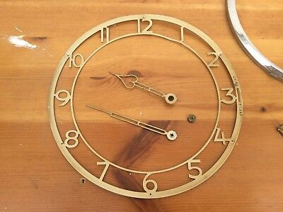VINTAGE SMITHS ENFIELD BRASS CLOCK MOVEMENT WITH CHIMES Round & Square Faces