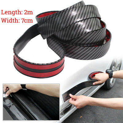 Carbon Fiber Style Car Front Lip Spoilers Side Skirt Protector Bumper Strip 2M