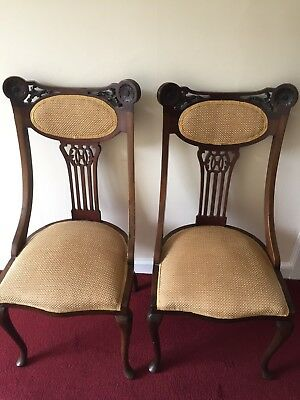 Pair of Edwardian hand chairs