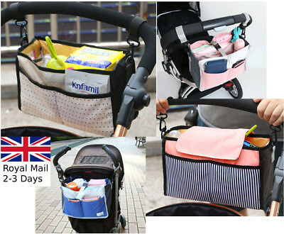 Stroller Pram Pushchair Accessories Buggy Cup Bottle Holder Organiser Mummy Bag