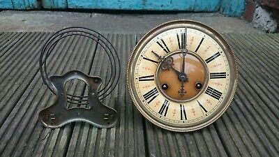 German Regulator Vienna wall clock movement & gong repair or spares