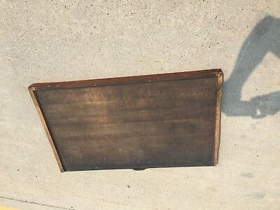 """Antique Printers Wooden Tray Drawer Type Case Printing Shop Letter Press 20×33"""""""